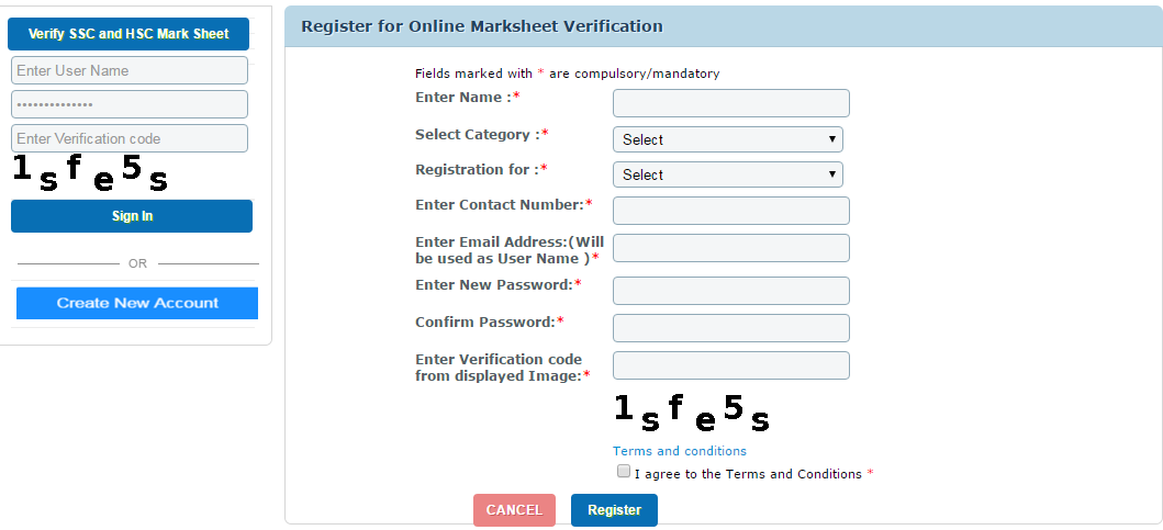 Online Verification of statement of marks & Certificate(SSC