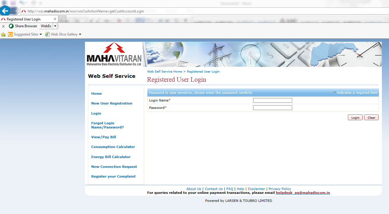 how to pay mseb bill online