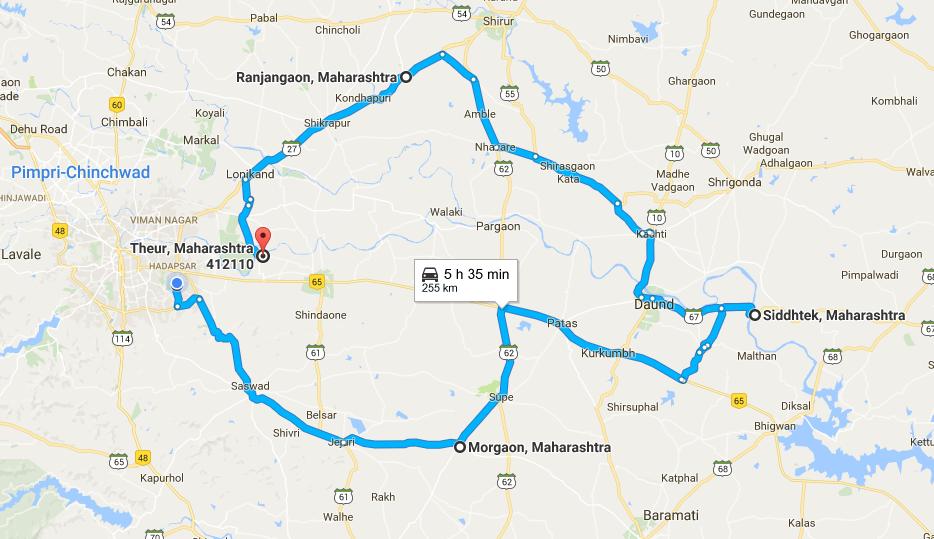 Mumbai Darshan Tour Route Map